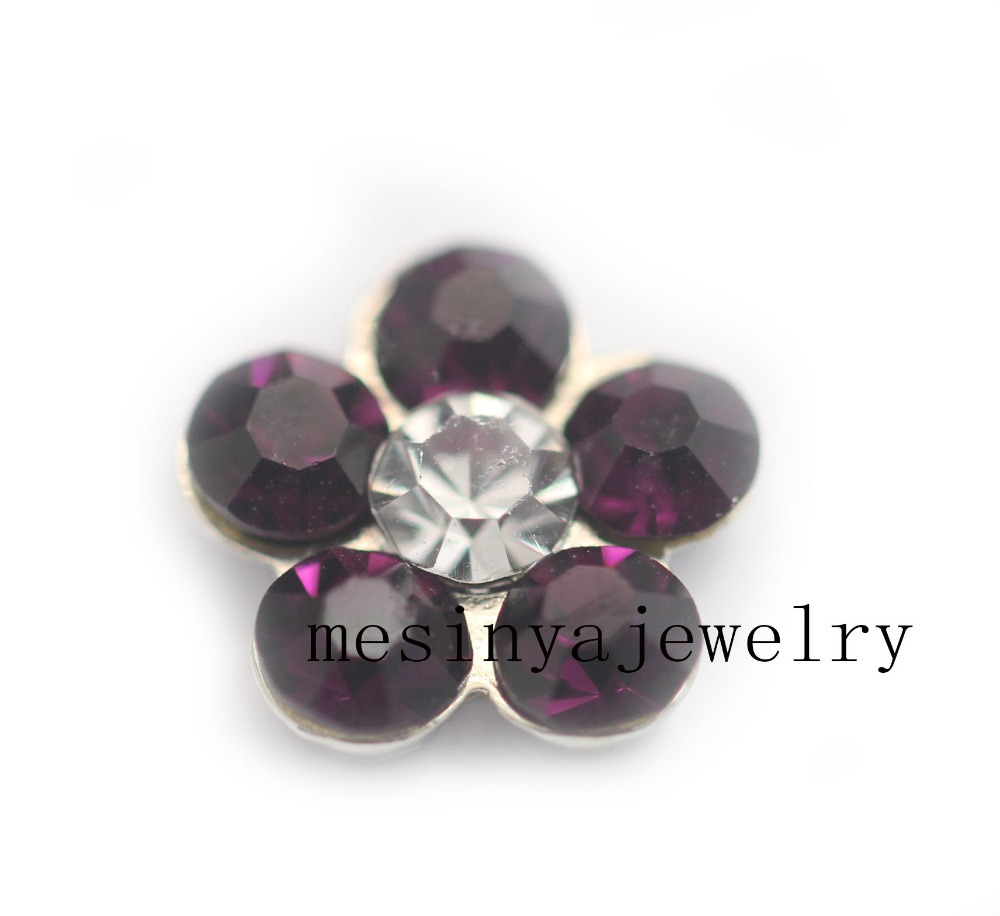 10pcs February Amethyst floating charms for glass locket Min amount $15 per order mixed items, FC-966