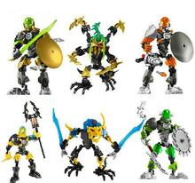 Hero Factory 5.0 Figures Star War Solider Bionicle Building Blocks Sets Toys Kids Bricks