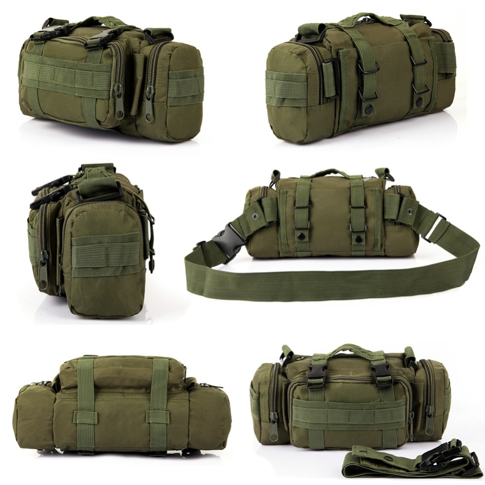 THINKTHENDO 800D Oxford Fabric Bag Unisex Military Waist Pack Shoulder Molle Pouch Bag Waist Bag waist bag
