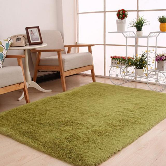 80x160cm 120x160cm Luxury Durable Silk Plush Rectangular Bedroom Mat Carpet Home Office Unique