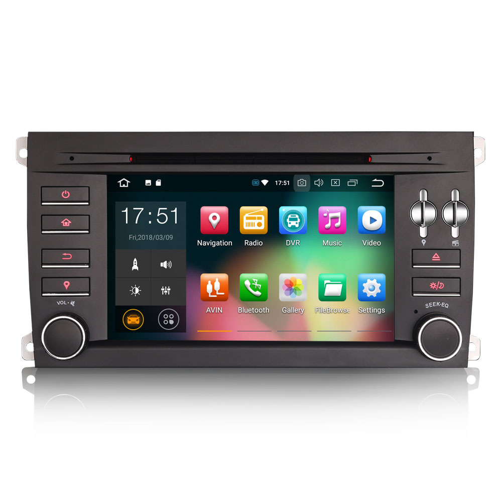 """Excellent 7"""" 4GB RAM 32GB ROM Android 9.0 Pie OS Car DVD Multimedia GPS Radio for Porsche Cayenne 2003-2010 with Split Screen Support 2"""