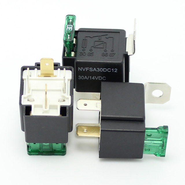 20pcs 30 amp fuse on off relay 4 pin spotlamps spot fog light rh aliexpress com