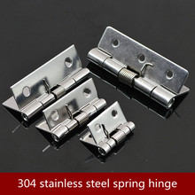 304 stainless steel spring hinge automatic cabinet door wardrobe hardware and furniture fittings Mini micro hinge