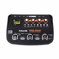 NUX MG 200 эффекты Гитарный процессор моделирующий эффект педаль мульти эффектов процессор с 55 эффектными моделями аксессуары для гитары