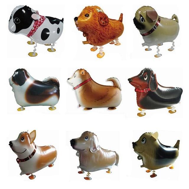 5 teile/los Gehende Haustier Hund Folien ballone Mops Pudel Bulldog ...