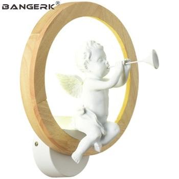 Nordique moderne résine oiseau ange applique applique murale LED enfants chambre applique décoration intérieure luminaires Luminaire