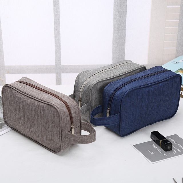 92c181e776d5 US $6.87 37% OFF|Men Toiletry Bags Canvas Travel Cosmetic Bag Small  Organizer Women Makeup Bag Neceser Make up Case Beauty Storage-in Cosmetic  Bags & ...
