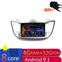 9 4G RAM 2.5D IPS 8 core Android 9.1 Car DVD Multimedia Player GPS for Hyundai IX35 Tucson 2010 2011 2013 2015 radio navigation