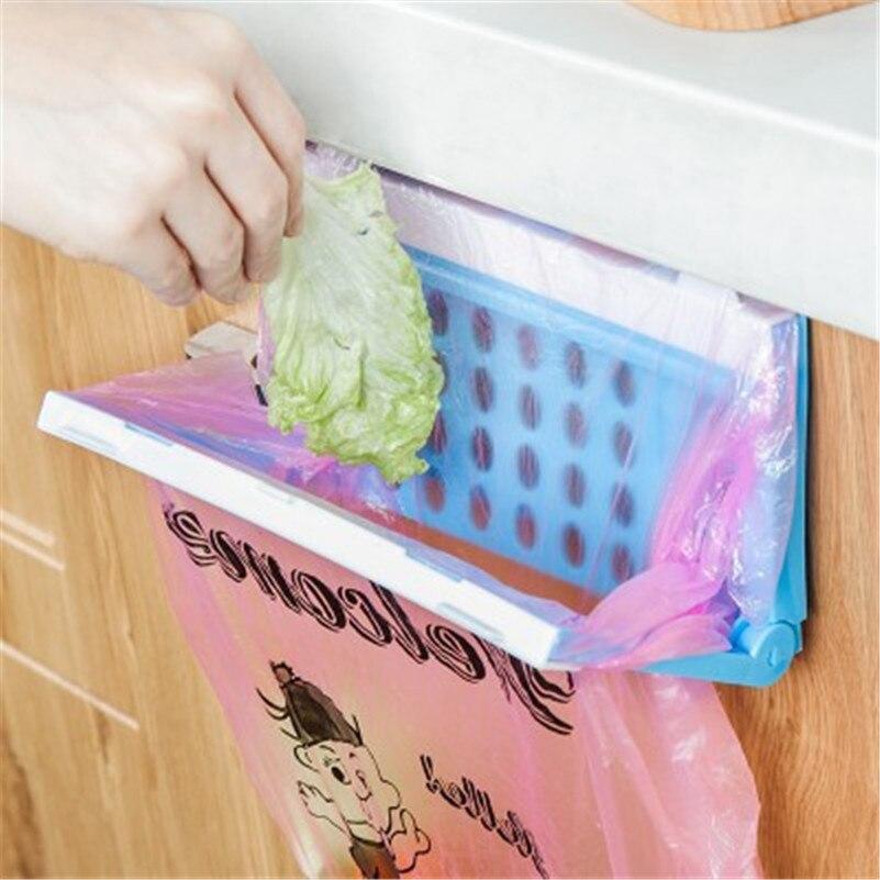 1PC Plastic Garbage Bag Rack Portable Hanging Trash Rubbish Bag Storage Rack Holder Kitchen Gadgets Storage Rack Hot Sale
