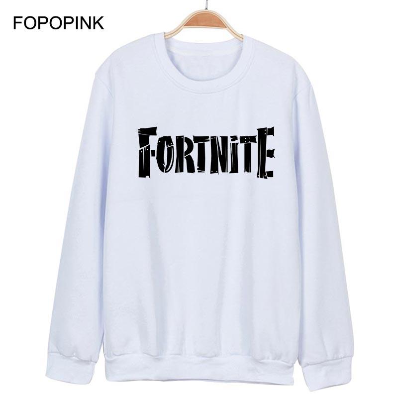 Men Hoodies Fortnite Sweatshirt Men Clothes 2018 Fortnite Game Sweat Homme Cotton Oversized Hoodie Long Sleeve Moleton Z40
