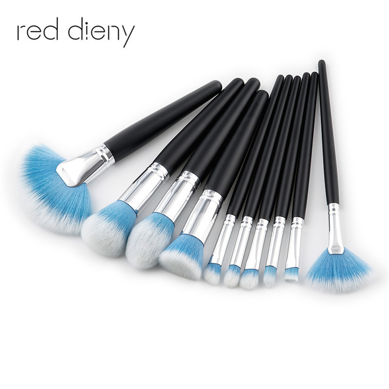 10Pcs/pack Makeup Brushes Tool Set Cosmetic Power Eye Shadow Makeup Brush Set Cosmetic Brushes Kit makeup brushes set tool 18 15pcs brushes