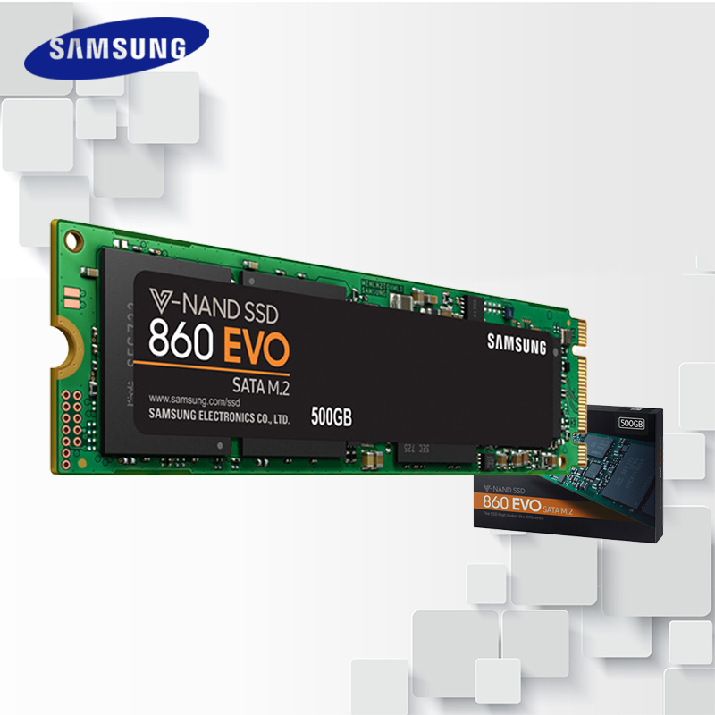 все цены на Samsung Internal Solid State Drive 860 EVO M.2 SATA III SSD 250GB 500GB 1TB 2T HD Hard High Speed for Laptop PC Computer Desktop