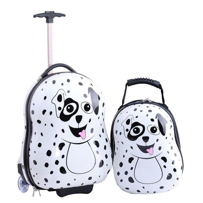 2015 animal prints 3d children trolley school bags kids luggage ...