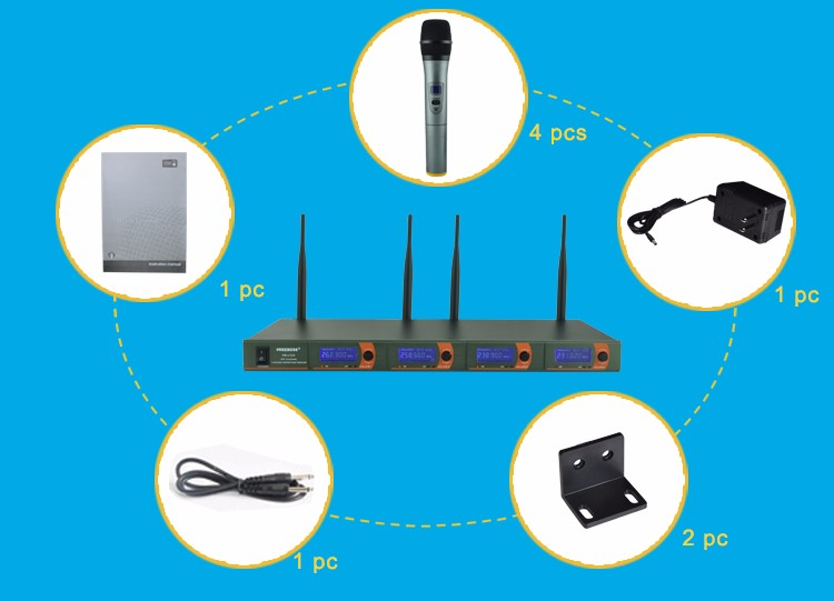 FB-V04  15 Wireless Microphones