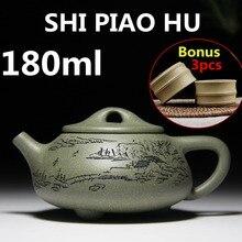 De China Yixing Tetera Taza 180 ml Juego de Té de Viaje Bouns 3 Té tazas de Porcelana Juego de Té Olla De Cerámica de Porcelana Juego de té de Yixing Arcilla Regalo caja