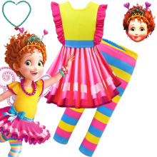 Summer new fancy nancy beautiful Nancy cosplay childrens Halloween show dress set