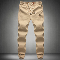 Hip Hop Mens Skinny Cargo Pants Black Khaki And Green Joggers With Pockets On Side For