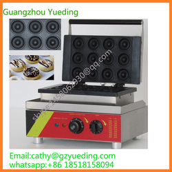 Commercial CE approved Waffle donut machine/donut maker/mini donut baking