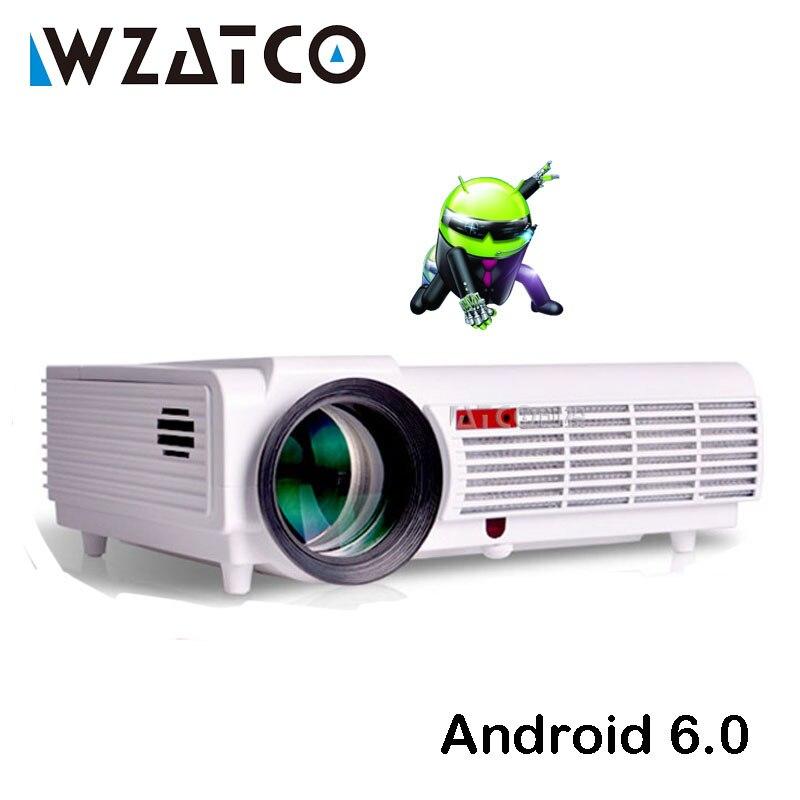 WZATCO LEDBT96 LED Projektor 5500 lumen Android WIFI Smart Full HD 1080 p für Heimkino Multimedia Video 3D Proyector beamer