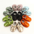 New Fashion Newborn Baby Girls Princess Infant Toddler Genuine Leather Bow Soft Soled Moccasins Moccs Shoes Fringe Prewalkers
