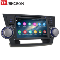 Car Radio Multimedia Player Stereo 8 2 DIN 2GB+32GB Android 6.0 For TOYOTA Highlander Kluger 2008 2011 GPS Navigation Head Unit