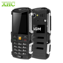AGM M1 IP68 Waterproof Phone WCDMA 3G GSM Mobile Phone 2570mAh Battery SC7701 Dual SIM FM TF 2.0MP Triple Proofing Phone