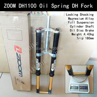 ZOOM DH1100 Cylinder Shaft Fork Trip 180mm Magnesium Alloy Moutain Bike 26 Downhill Bike Oil Disc