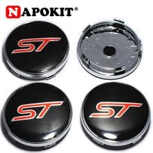 4 шт. 60 мм логотип ST автомобильные колпачки для колес эмблема для Ford ST Fusion Everest Escape Explorer Edge Mondeo Focus Ecosport Fiesta Kuga