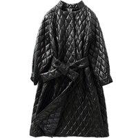 Осенне зимнее пальто женская одежда 2018 дубленка в Корейском стиле из натуральной кожи куртка Для женщин Chaqueta Mujer длинные пальто ZT879