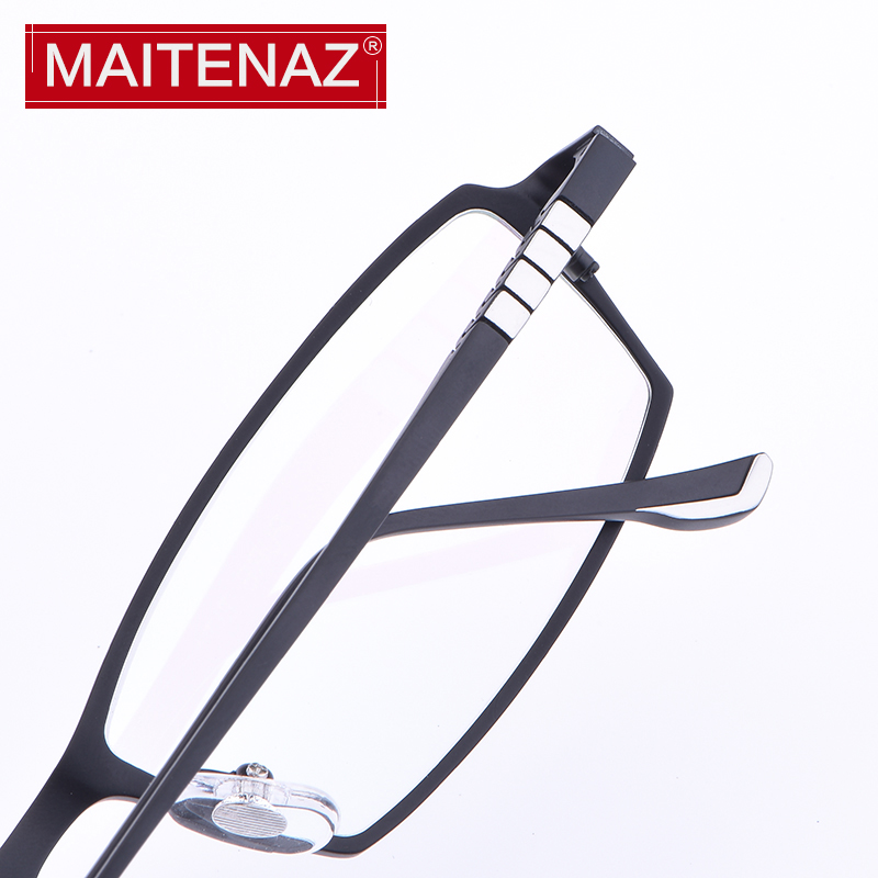 MAITENAZ big size myopia glasses reading glasses full frame male business style clear lens confortable protection Spectacles