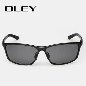 Image 3 - OLEY lunettes de soleil accessoires lunettes polarisées pour hommes, marque de styliste en aluminium magnésium, accessoires pour la conduite