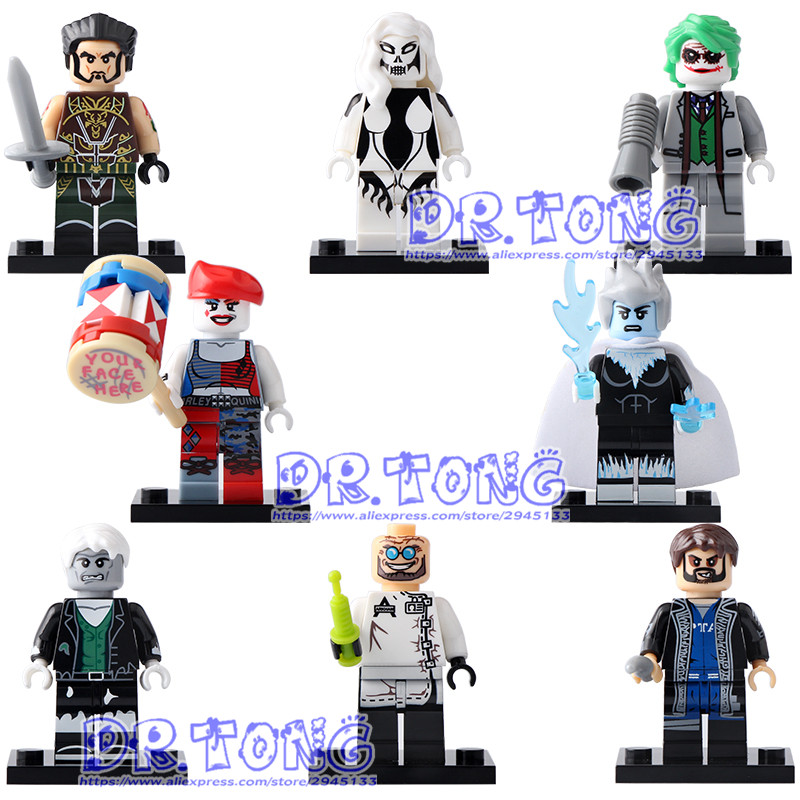 DR TONG 80PCS/LOT X0171 Super Hero Silver Banshee Killer Frost Joker Harley Quinn Solomon Grundy Ra's Al Building Blocks Toys dr tong 20pcs lot pg1049 super hero