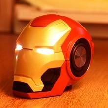 โทรศัพท์มือถือลำโพงบลูทูธ V4.2 Iron Man ลำโพงบลูทูธซับวูฟเฟอร์วิทยุ FM สนับสนุน TF Card สำหรับโทรศัพท์ PC