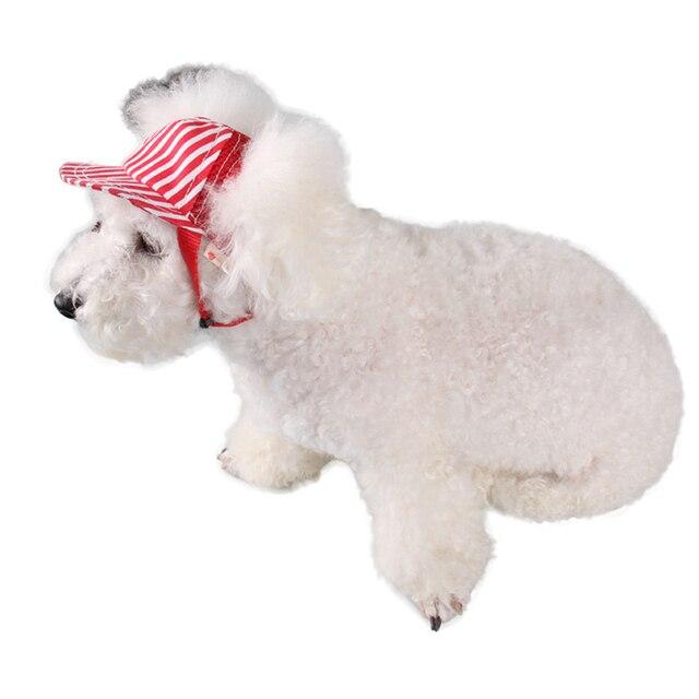 Strisce Cane di Animale Domestico Del Berretto Da Baseball Del Cappello Antivento di Sport di Viaggio Cappelli da Sole Per Puppy Cani di Taglia Grande Costume Attrezzi strigliatura e tolettatura Copricapi Forniture Per Animali Da Compagnia