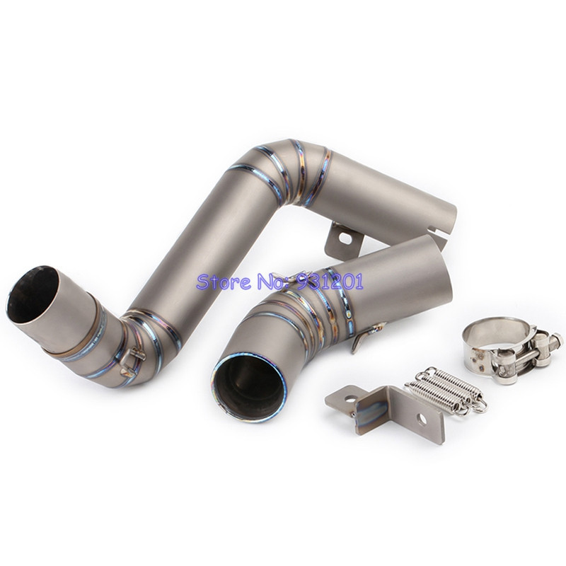 KTM Duke 125 Duke 200 Duke 390 Exhaust Muffler Middle Pipe Connect Mid Link Pipe Titanium Alloy for 51mm Muffler (2011-2016)(China)
