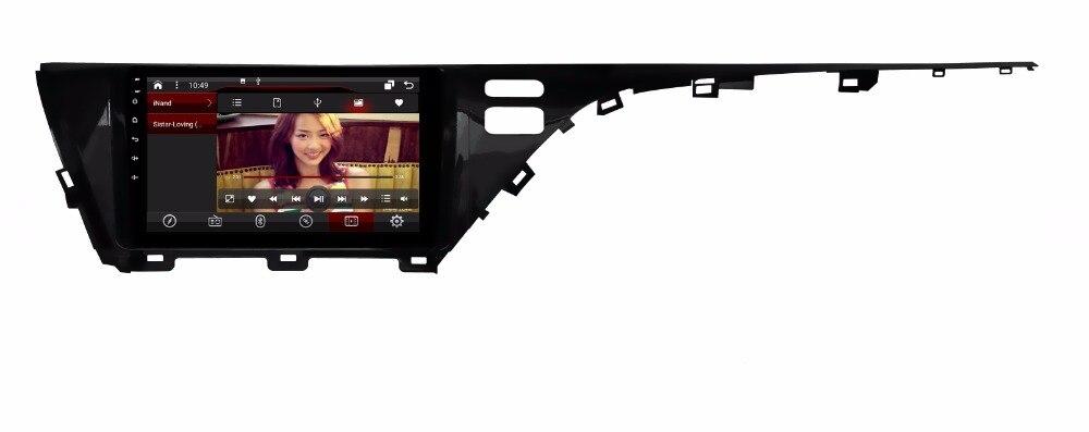2 gb RAM octa base Android 7.1.2 de voiture GPS pour TOYOTA Camry 2018 écran tactile voiture radio stéréo navigation stéréo 3g miroir lien DVR