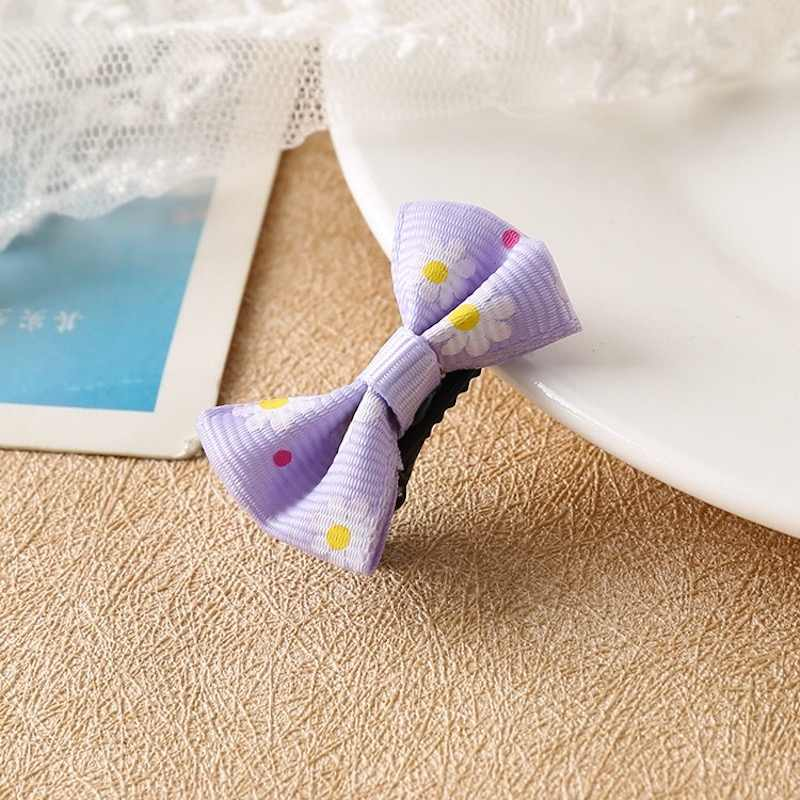 """1/20pcs 2"""" Mini Hair Bow Grosgrain Ribbon Hair Bows with Alligator Clips for Baby Girls Toddlers Kids in Pairs"""