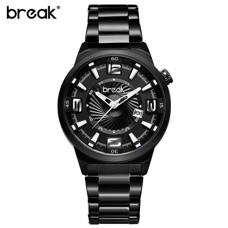 Fashion Casual Mens Quartz Watches Military Stainless Steel Wristwatches Clock Black Business Analog Watch Men Erkek Kol Saat mens watches top brand luxury stainless steel analog display quartz watch men fashion casual wristwatches montre homme