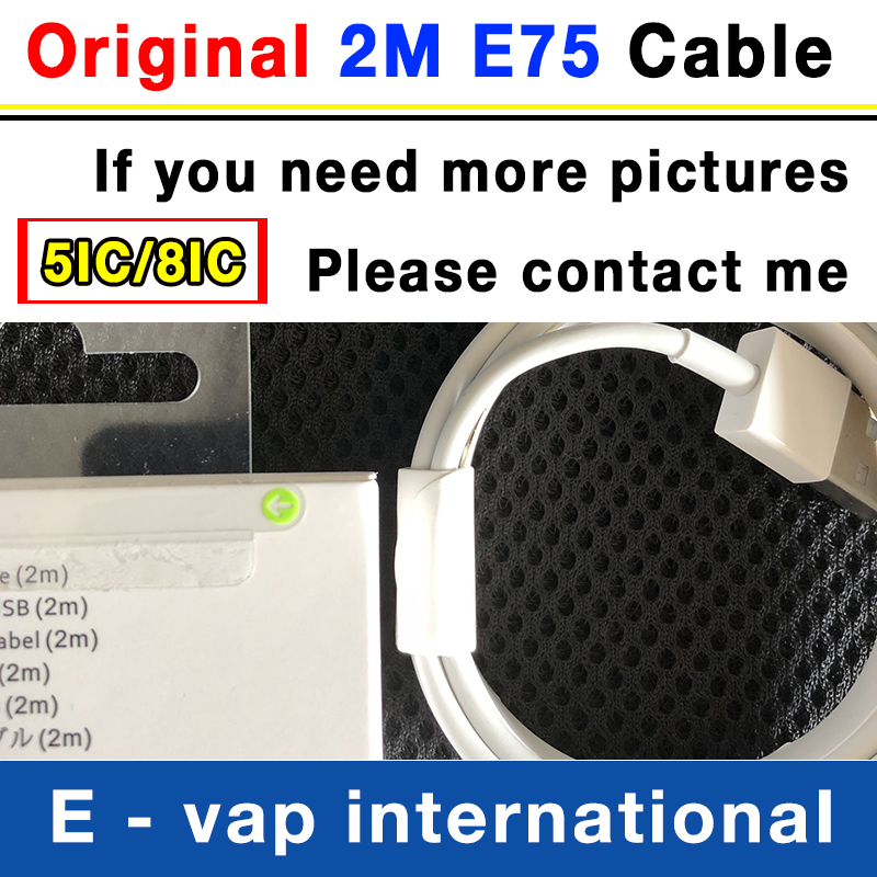 100Pcs 100% Genuine Original 2m/6ft E75 5ic/8ic OD:3.0mm Data USB charger Cable for iphone 5 6 6s 7 Plus 8 X XR XS MAX with box-in Mobile Phone Chargers from Cellphones & Telecommunications    1