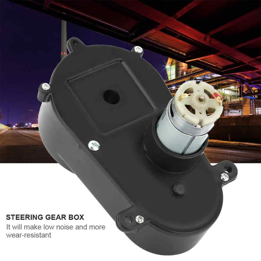 worm gearbox RS390 Gear Box Electric Motor Steering Gearbox for Children Car Kids Toy reverse gearbox