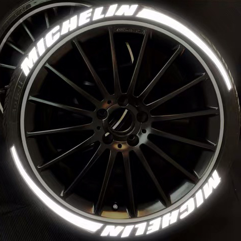 [Réfléchissant] voiture universel 3D logo pneu roue autocollant Auto moto style personnalisé drôle sport décoration autocollants