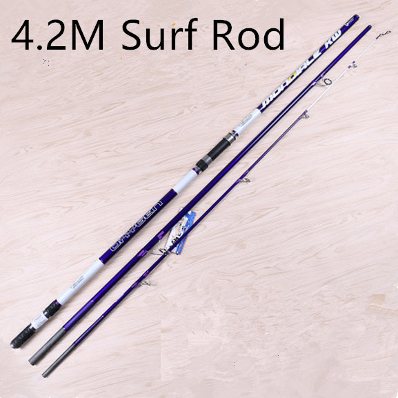 Free shipping fishing rod 3 section lure weight 100g 200g for Shipping fishing rods