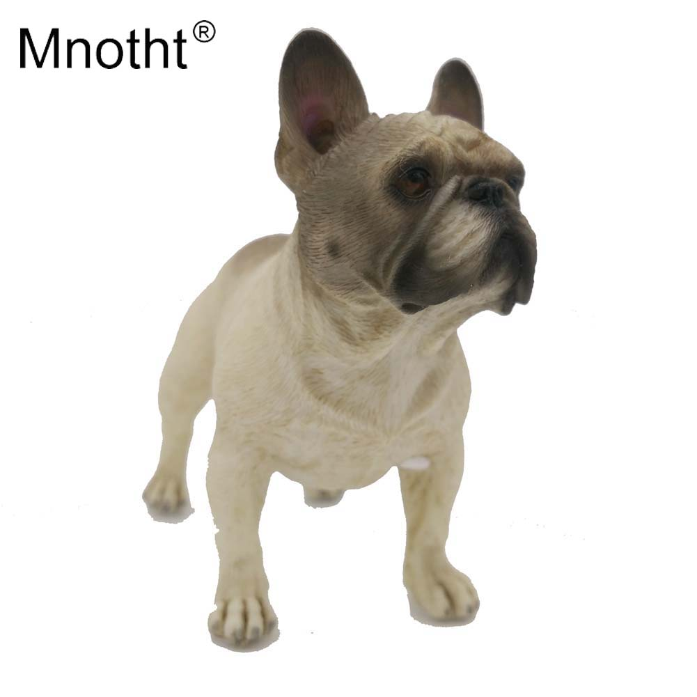 цены 1/6 Scale MR.Z French Bulldog Model Grey Resin Pet Dog Model animal Sculpture Toy Action Figure Collection Hobbies Mnotht m4