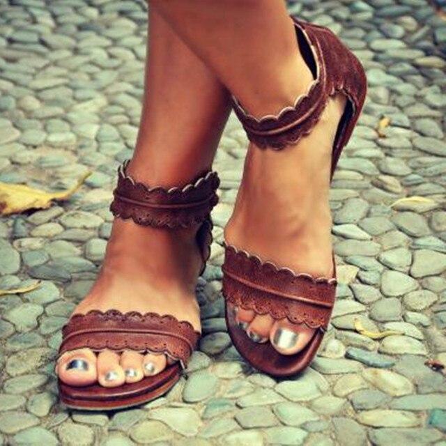 KARINLUNA piatto 2019 di Estate vacanza al mare di Modo di Grande Formato 43 Bordi Sandali Delle Donne scarpe comode per il tempo libero Casual Scarpe Donna