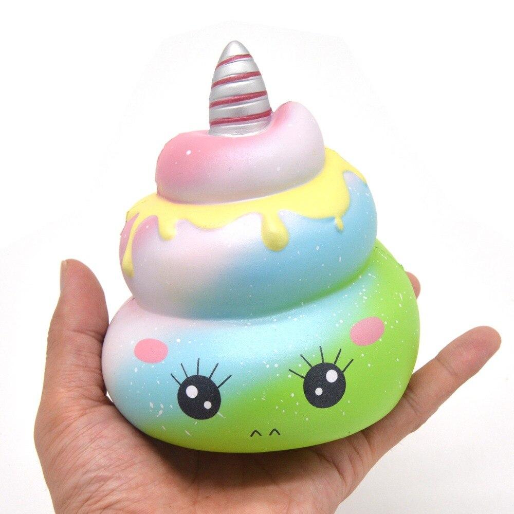 Oyuncaklar ve Hobi Ürünleri'ten Mutfak Oyuncakları'de 12 ADET Kiibru Sevimli Unicorn Poo Squishies Yavaş Yükselen Kokulu Squishy Karikatür Ekmek Bebek Çocuk Hediye Komik Oyuncaklar Toptan Dekorasy'da  Grup 3