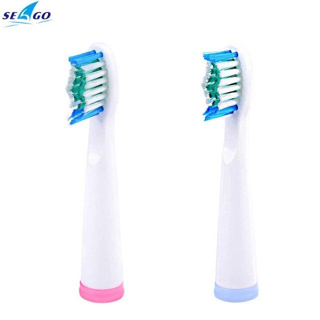 Seago reemplazo de cabezas de cepillo de dientes limpio para sg-610/sg-e8/Herramientas de Cuidado de la Higiene Bucal Dientes Limpios DuPont Cerdas SG-909 5 unids
