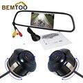 5 дюймов HD Зеркало Заднего Вида Монитора 2ch Видео Вход 800*480 + 360 градусов вращения ПЗС передняя камера и камера заднего вида, Бесплатная Доставка