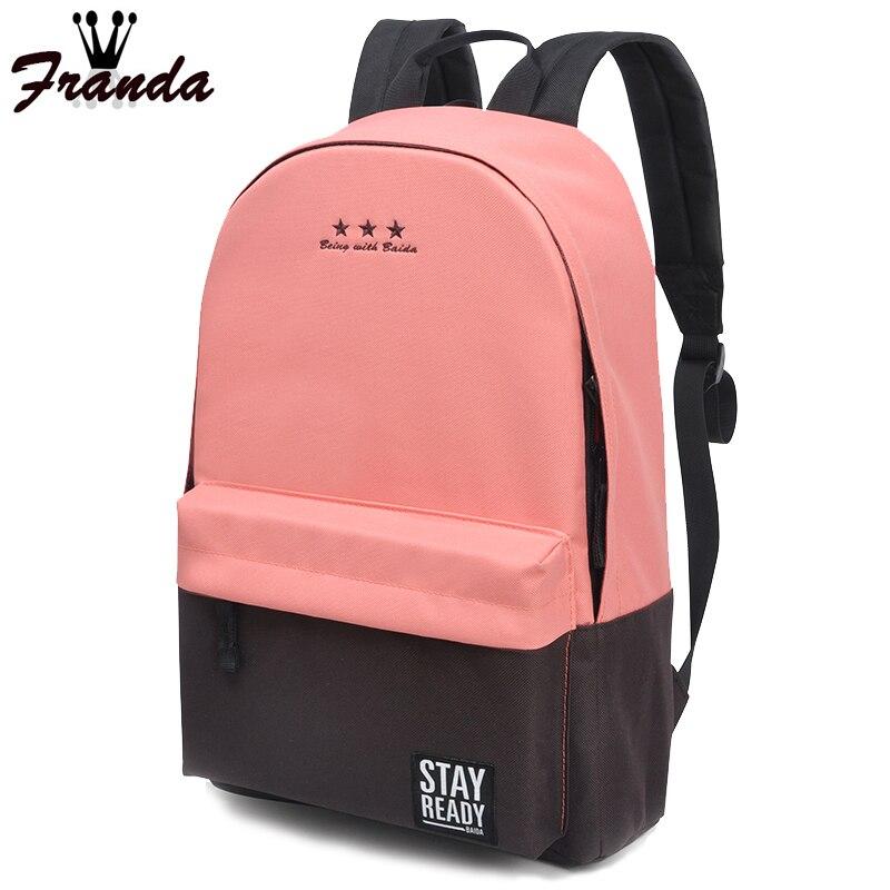 Fashion School font b Backpack b font Women Children Schoolbag Back Pack Leisure Korean Ladies Knapsack