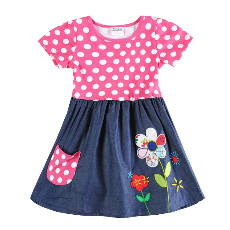 Online Shop baby clothing girl dress nova kids clothes embroidery ...