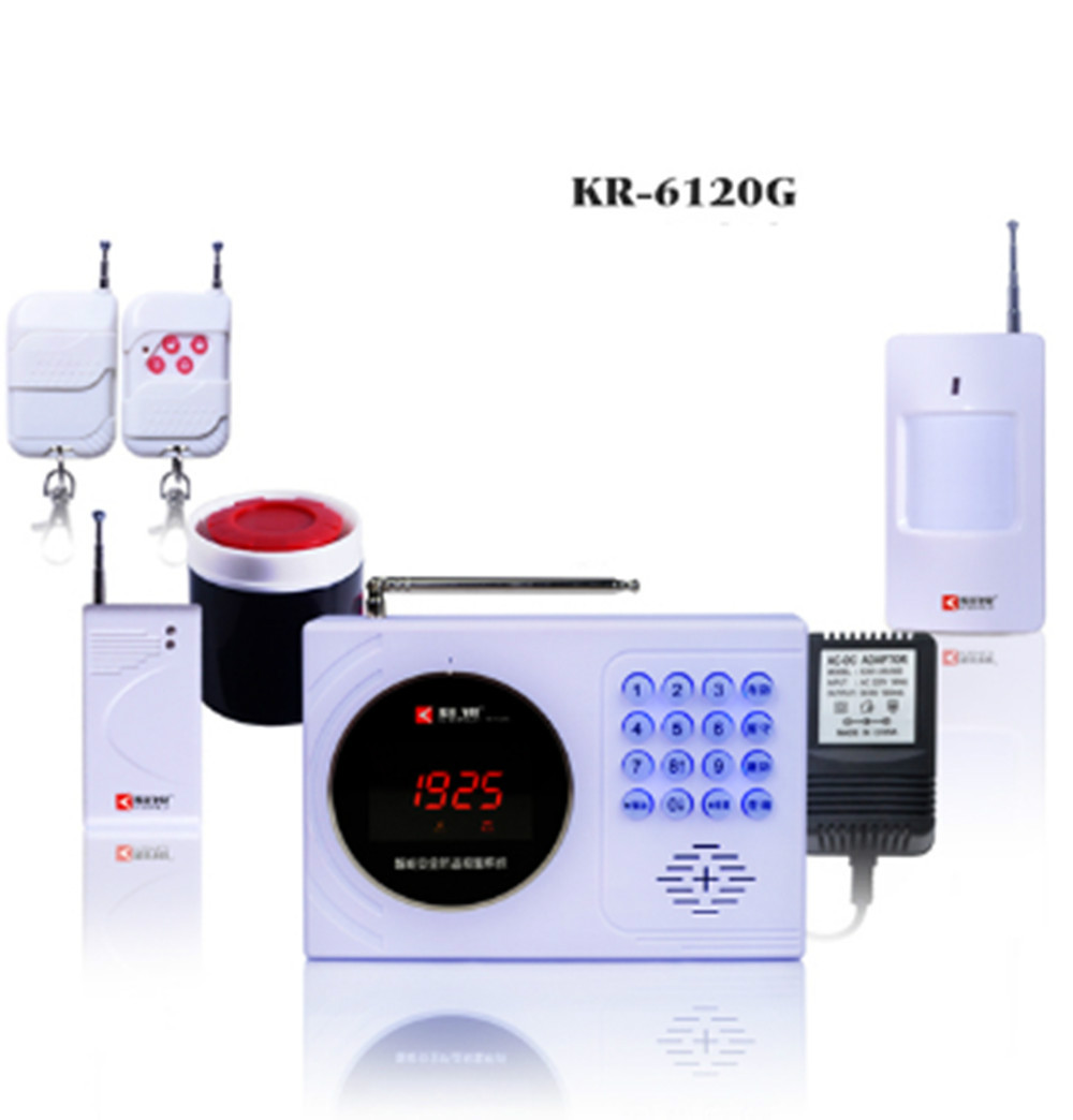 Digital Clock Display GSM Burglar Alarm System 120 wireless defense zones and 2-wired zones цена